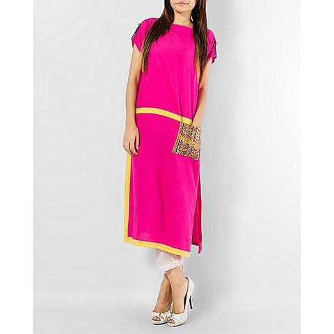 FC Lawn Kurta With Yellow Borders for Women