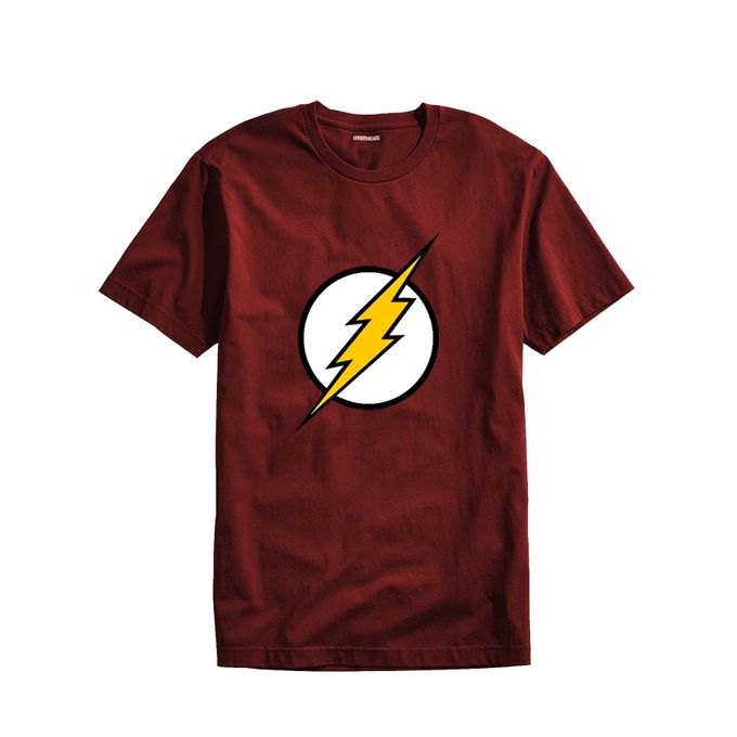Maroon Cotton Iron Man T-shirt For Men