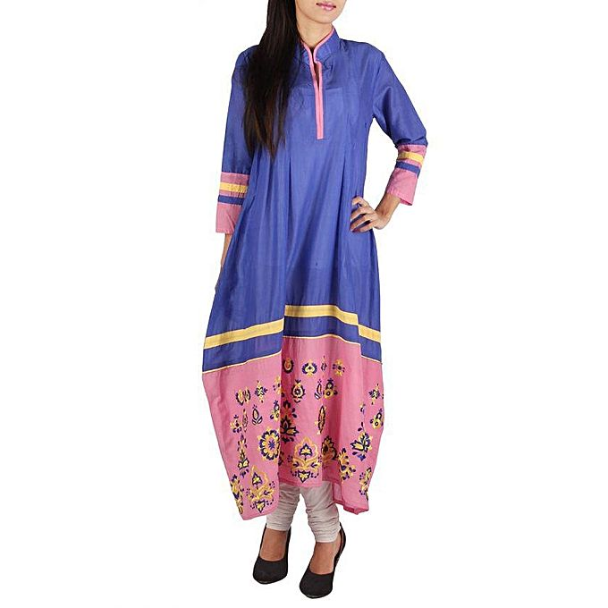 FC Cotton Casual Kurta Embroidery for Women