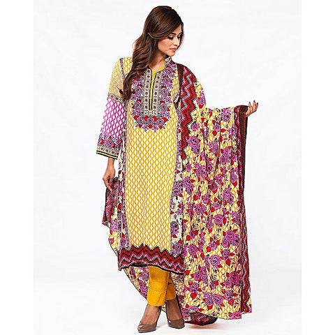 FC Multicolor Lawn Printed Suit for Women
