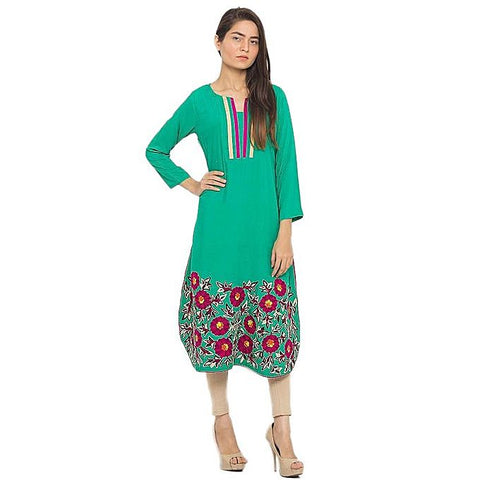 FC Lawn Kurta with Aari Work for Women