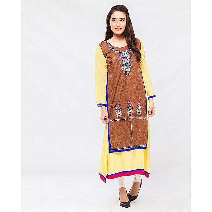 FC Malai Printed Embroidered Kurta for Women