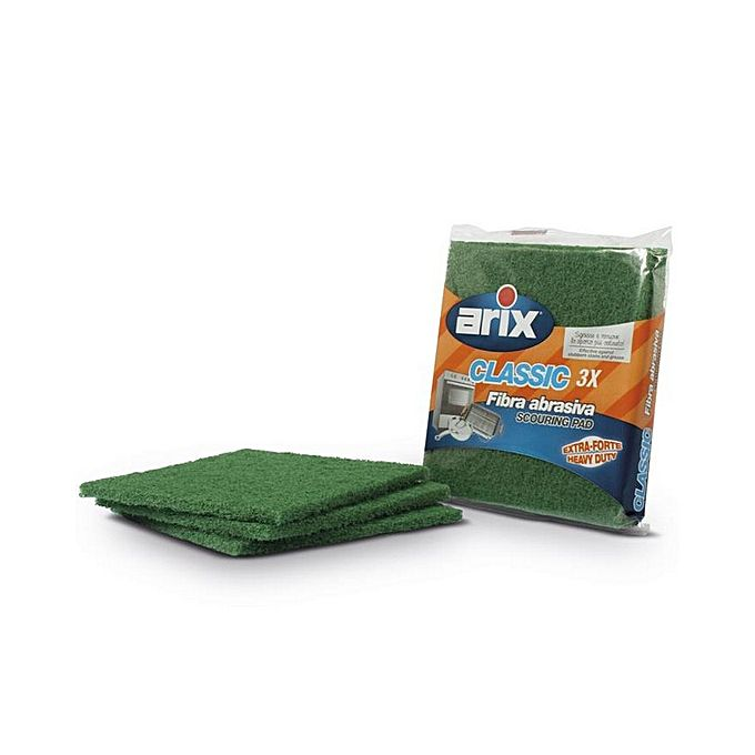 Pack of 3 Extra Strong Scouring Pads - Green