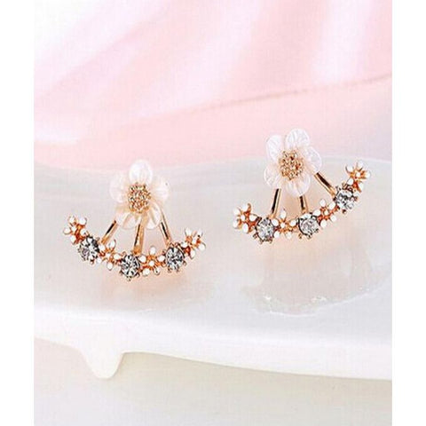 Crystal Pierced Stud Earrings - GO