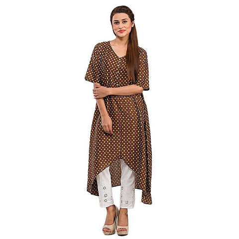FC Cotton Basic Kurta with Front Button for Women