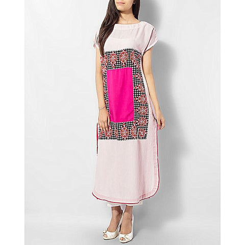 FC Kurta With Block Printed Front for Women
