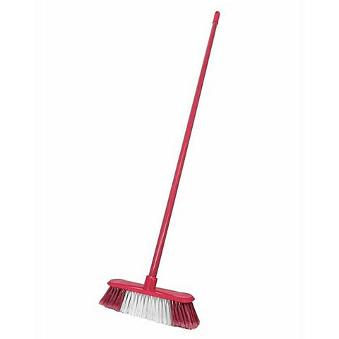 Broom Brush with White Contrast - Red