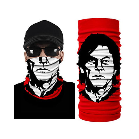 Imran Khan 3D White Creative Face Mask Bandana