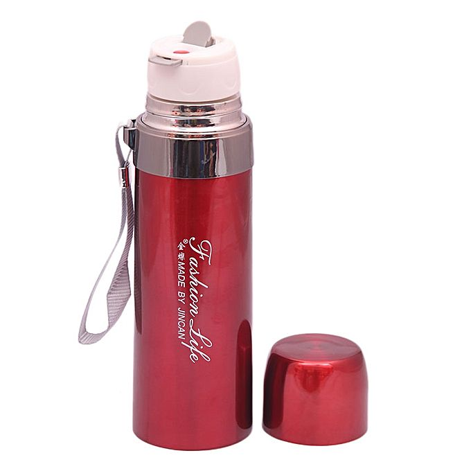 Steel Water Bottle - Red