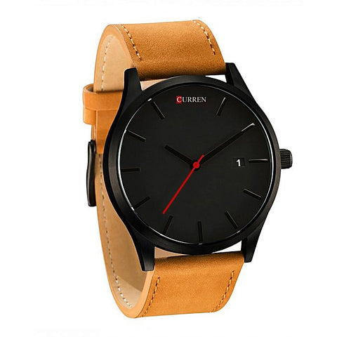 Curren Brown Analog Wrist Watch For Men - Brown