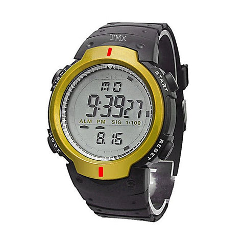 Yellow & Black Rubber Digital Watch for Boys