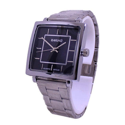 B75-03 - Silver Stainless Steel Analog Watch For Men