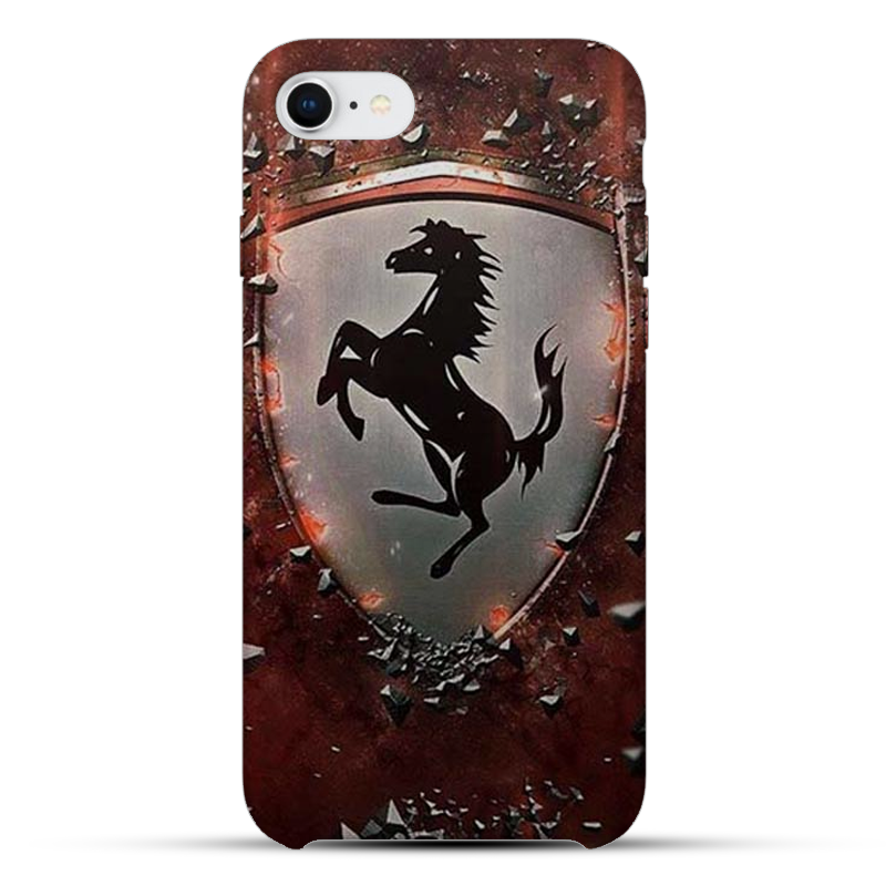 Ferrari Logo Silicon Mobile Cover
