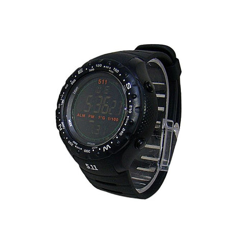 Black Rubber Digital Watch for Men