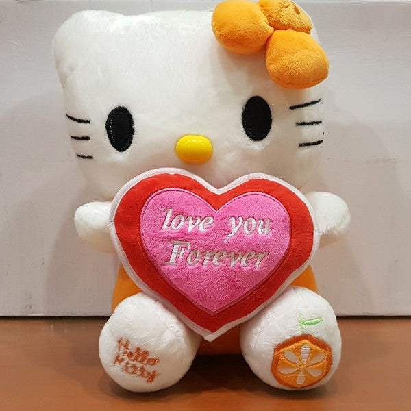 Soft Stuffed Hello Kitty Figure With Heart