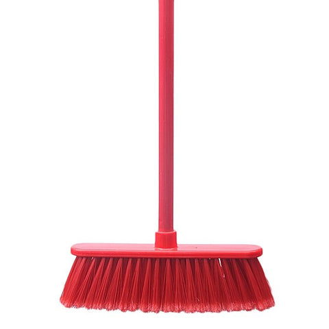Brush Multi-Surface Broom Red