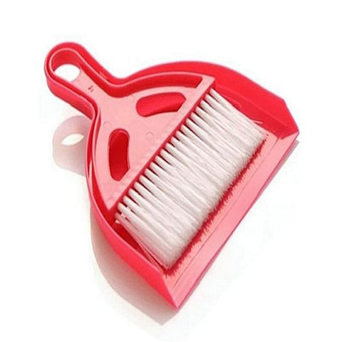 Portable Cleaning Shovel with Duster - Red