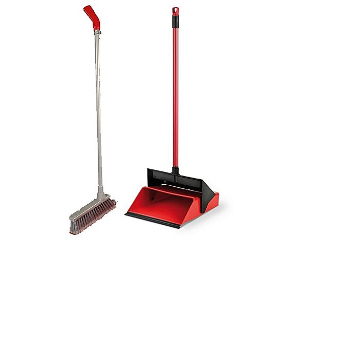 Dustpan With Brush - Red