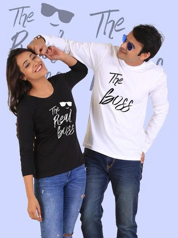 The Real Boss Couple Full Sleeves T-Shirts