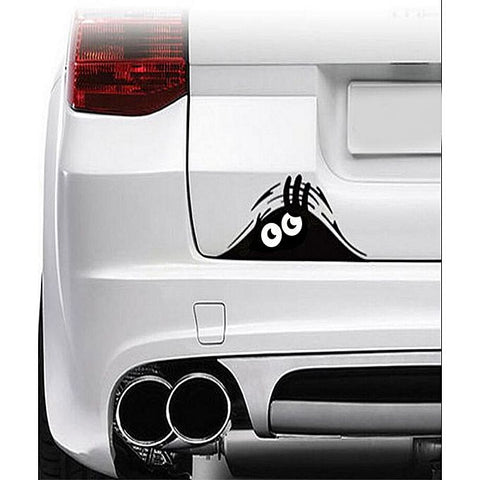 Hiding Monster Eye Sticker - Black