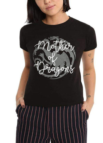 Mother of thrones Half Sleeves Women T-Shirts
