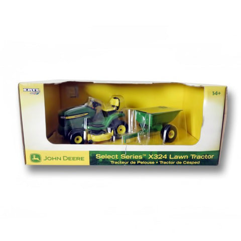 Green Tractor With Cart Toy
