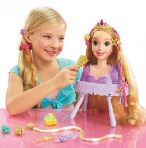 Disney Princess Rapunzel Hair Styling Head Playset