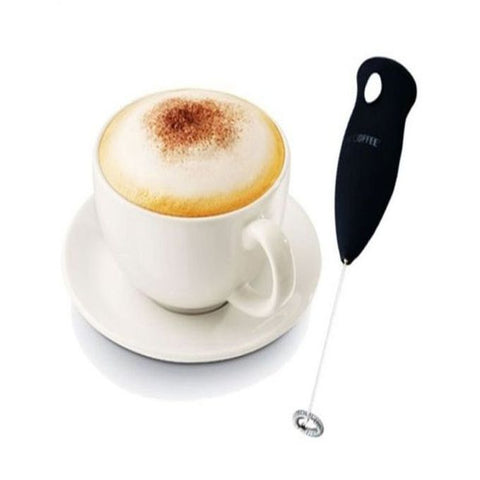 Handheld Coffee Beater Mixer & Whisker - Black