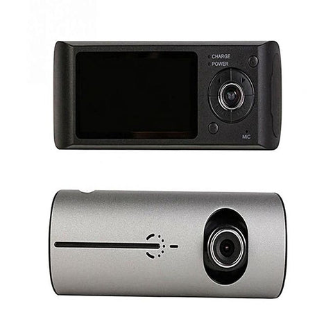 Car DVR Camera Video Recorder Dash Cam G-Sensor GPS Dual Lens - Black