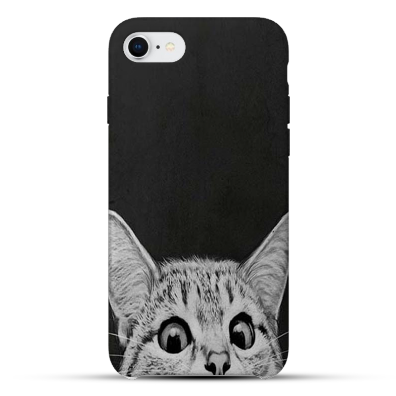 White Cat Silicon Mobile Cover - 05