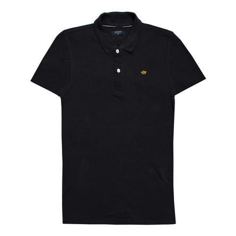 Black Comfortable Dry Polo Shirt for Men