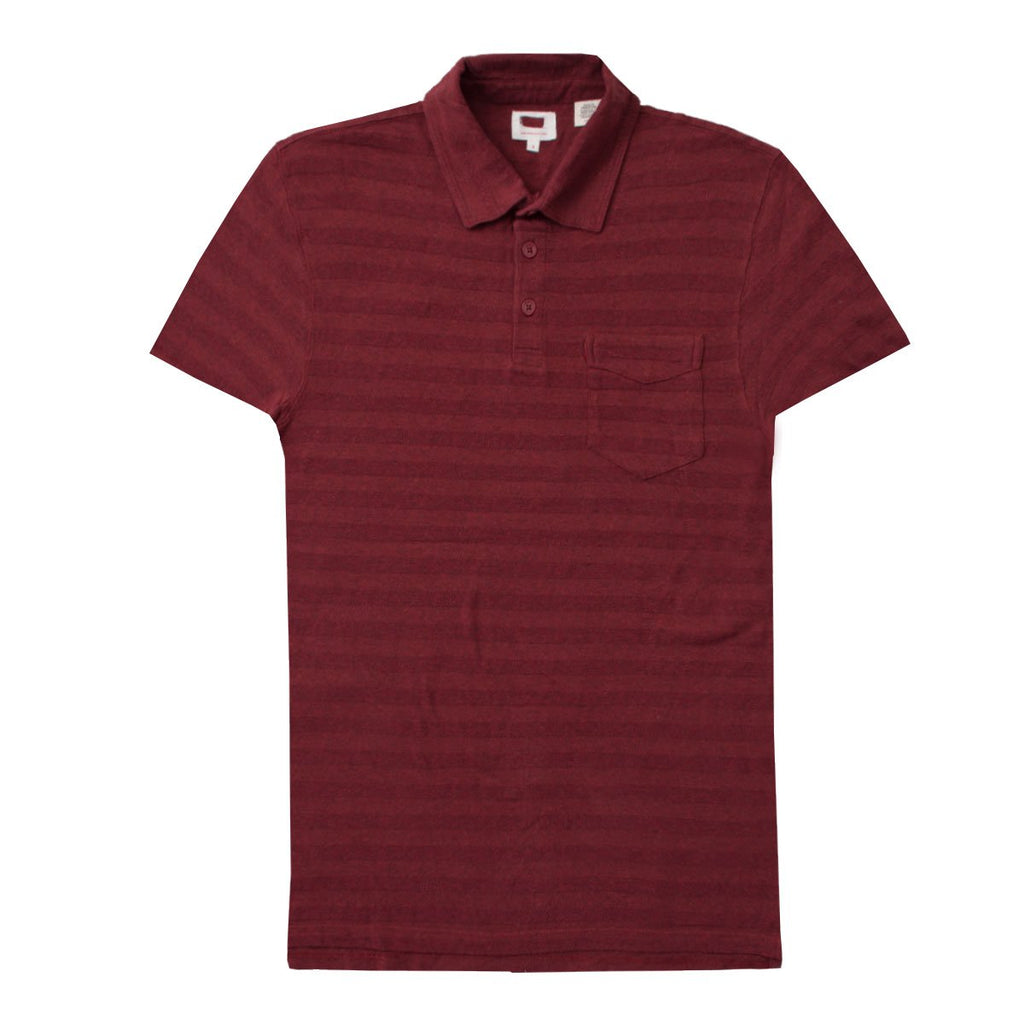Label Maroon Polo Shirt for Men