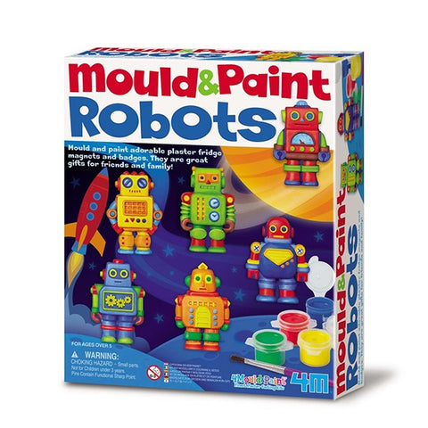 Mould & Paint Robots for Kids