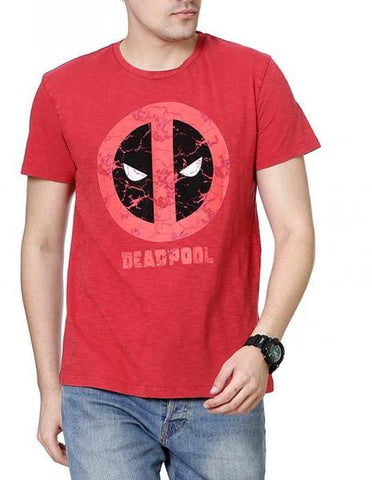 Deadpool Merc Red Half Sleeves Men T-Shirt