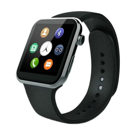 Smart Watch W08 - GSM and Bluetooth - Black