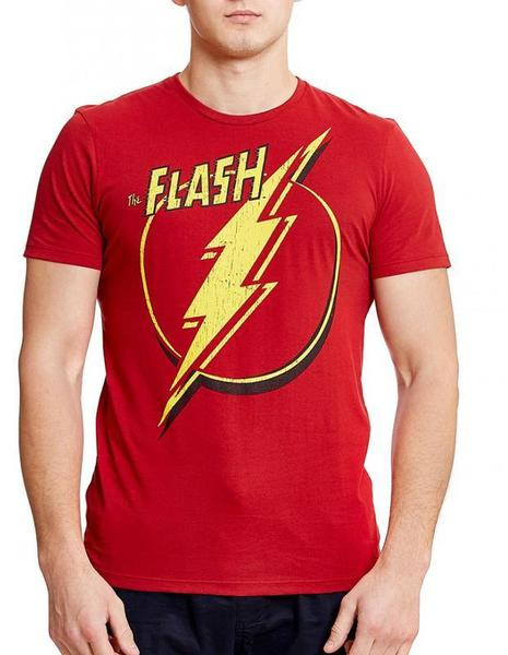 DC Comics Flash Out Red Half Sleeve Men T-Shirt
