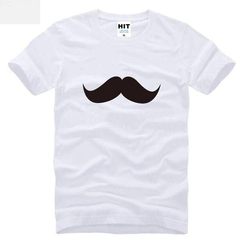 White Mustaches T-Shirt for Men
