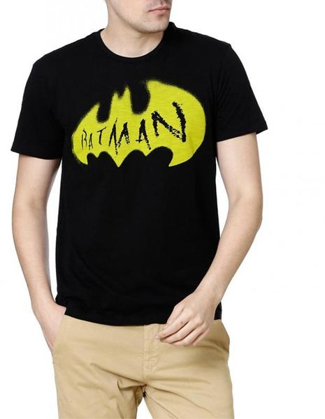 Batman Superhero Protector Black Half Sleeves Men T-Shirts