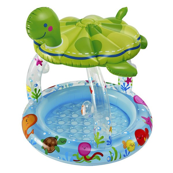 Turtle Baby Pool With Sun Shade