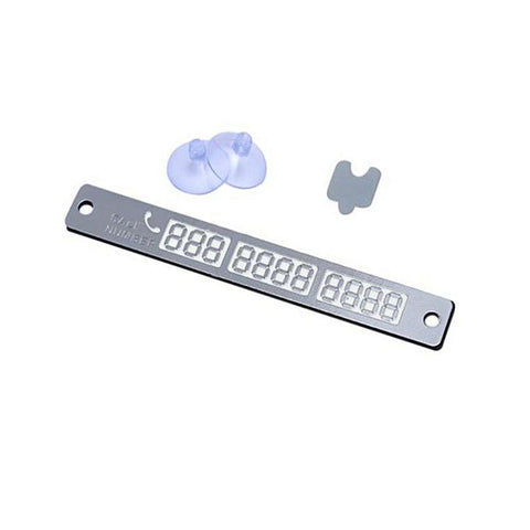 Telephone Number Card - Silver