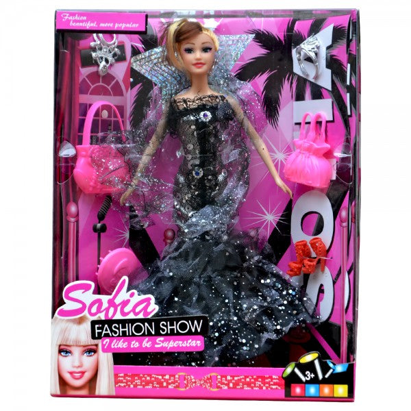 Sofia Fashion Doll with Accessories(Black)