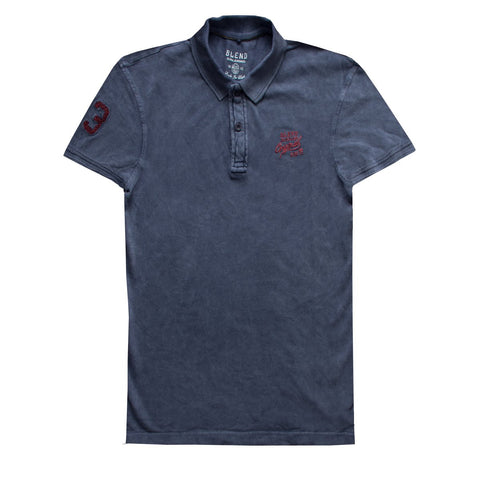 Faded Blue Polo Shirt for Men