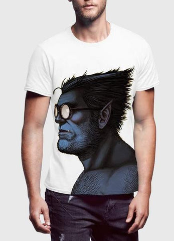 Beast Portrait Half Sleeves T-Shirt