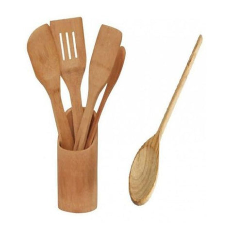Wooden Kitchen Utensils - Brown
