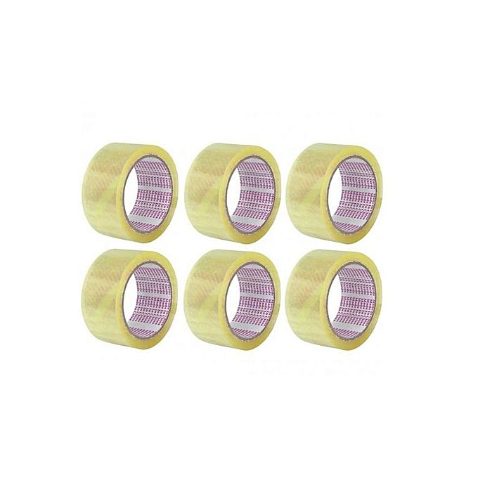 Pack of 6 - Transparent Packing Tape