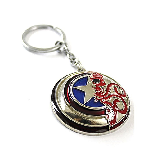 Keychain - Metal - Captain America Shield