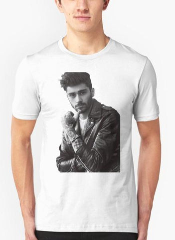 Zayn Malik Portrait White Half Sleeves T-Shirt