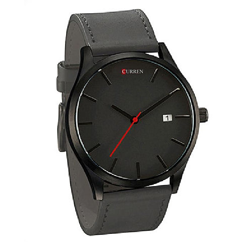 Curren Grey Analog Wrist Watch For Men - Grey