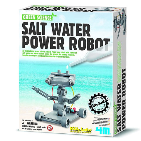 Salt Water Powered Robot Kit for Kids