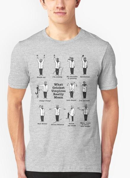 What Cricket Umpire Really Means Gray Half Sleeves T-Shirt